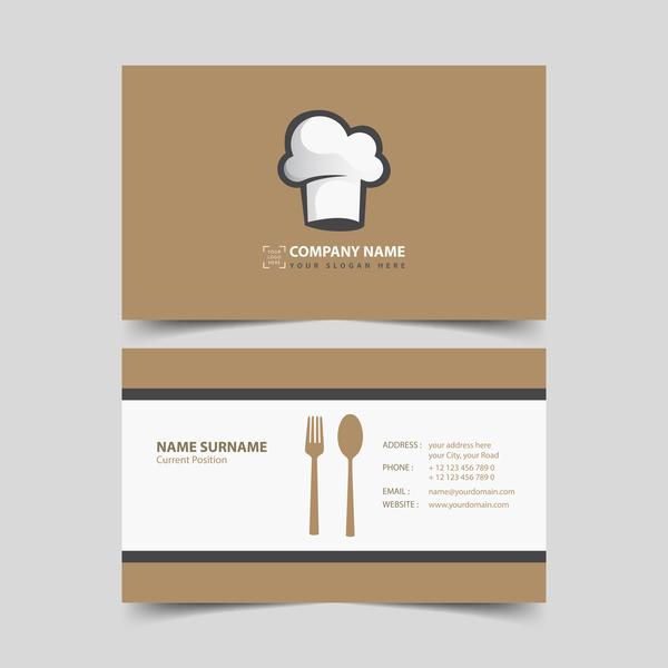 restaurant business card vector - WeLoveSoLo