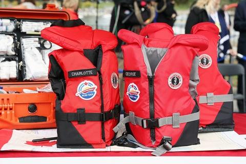 Prince William Kate Middleton Canada life jackets Charlotte George