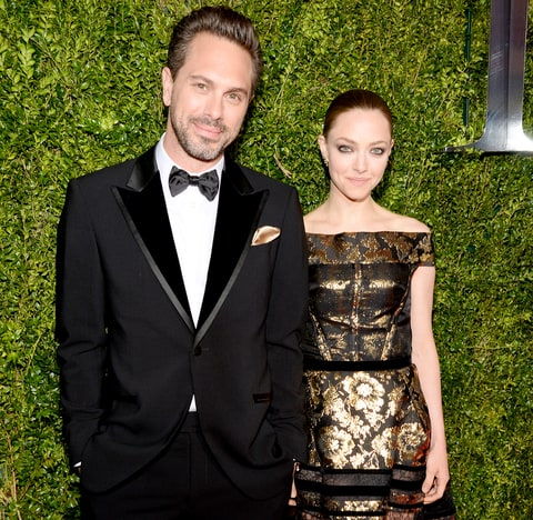 Thomas Sadoski and Amanda Seyfried attend the 2015 Tony Awards at Radio City Music Hall on June 7, 2015 in New York City.