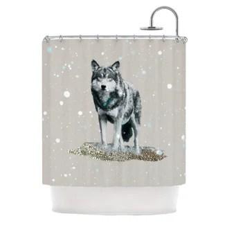 Lone Wolf Shower Curtain from Wayfair!