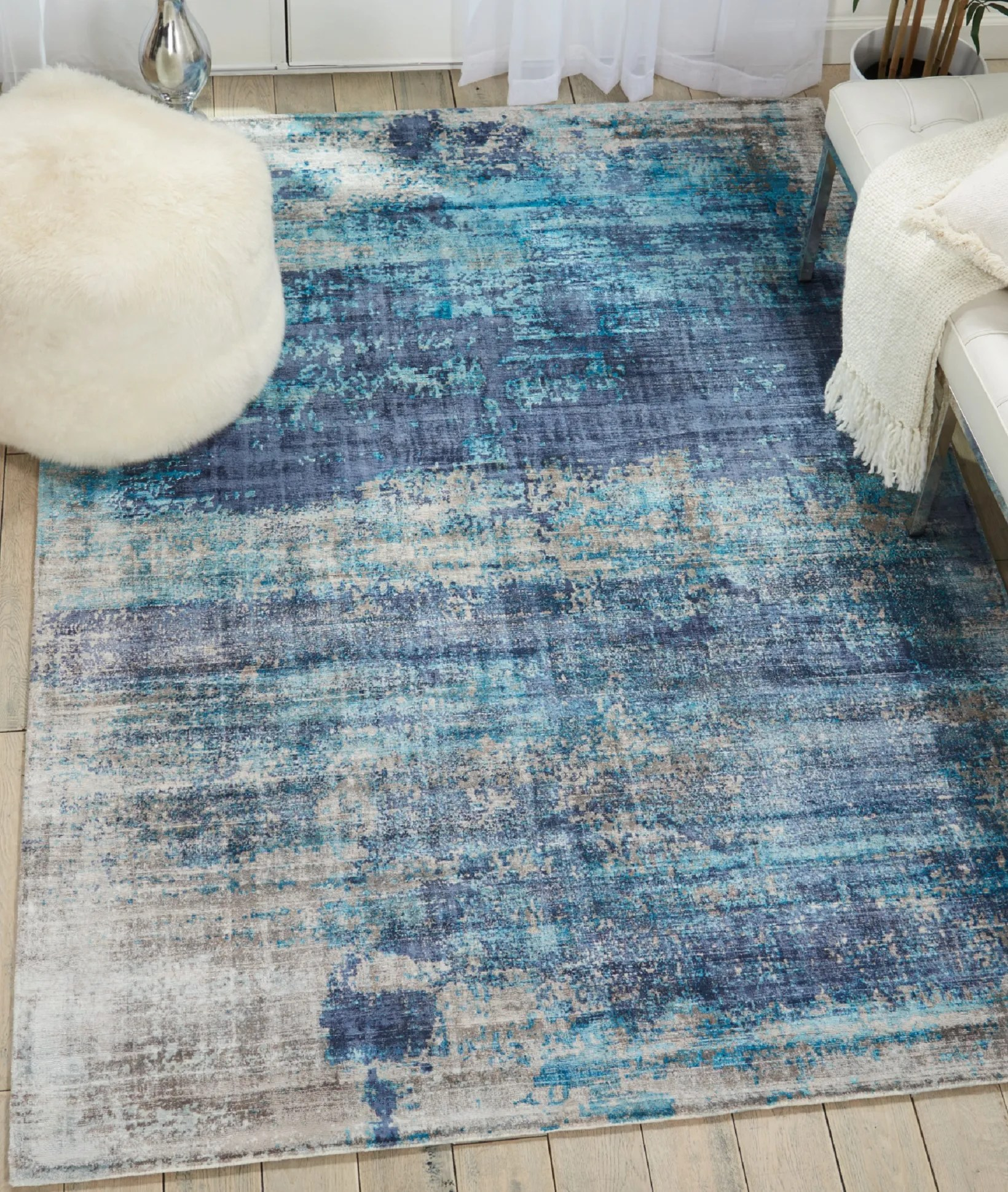 Teal Color Area Rugs Area Rugs Mcgill Modern Abstract Hand Woven Teal Blue Area Rug