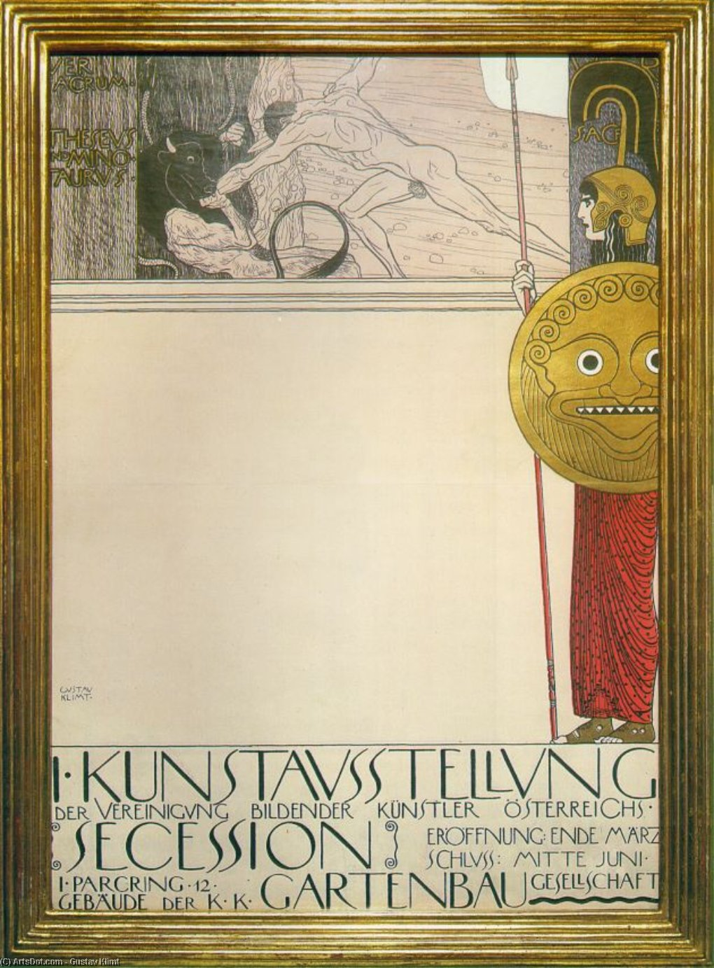 Poster For The 1st Secession Exhibition Gustav Klimt Wikioo Org The Encyclopedia Of Fine Arts