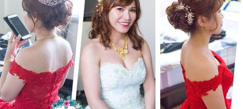 婚宴新娘秘書│溫婉又華麗的時尚新娘訂婚造型