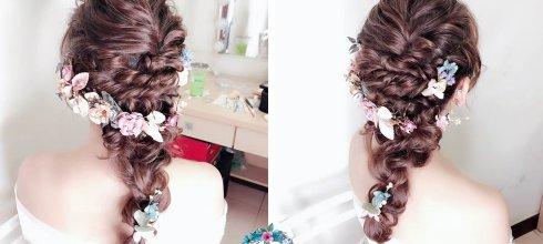 婚宴新娘造型│優雅浪漫的編髮造型