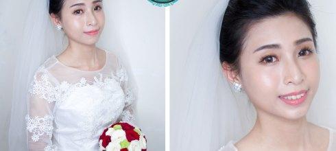 新娘婚宴造型│這不是油光,而是漂亮的水潤透亮光澤妝容