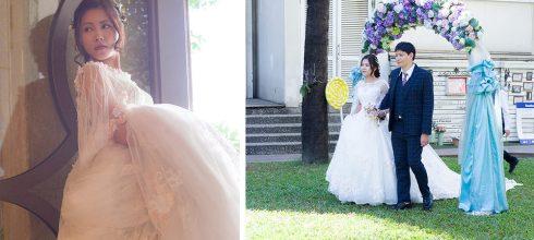 新娘秘書│美式戶外證婚的浪漫花飾品新娘