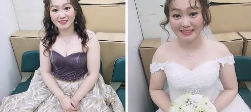 台南婚宴新秘│日雜風格修飾臉型的新娘造型