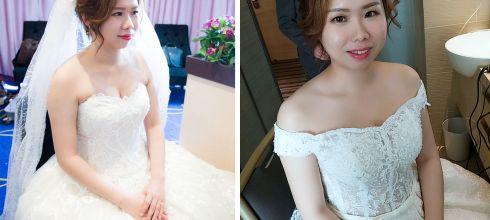 高雄台中婚宴新秘│浪漫又氣質的白紗造型