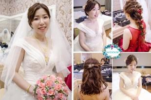 台南新娘秘書│中短髮溫柔氣質的新娘造型