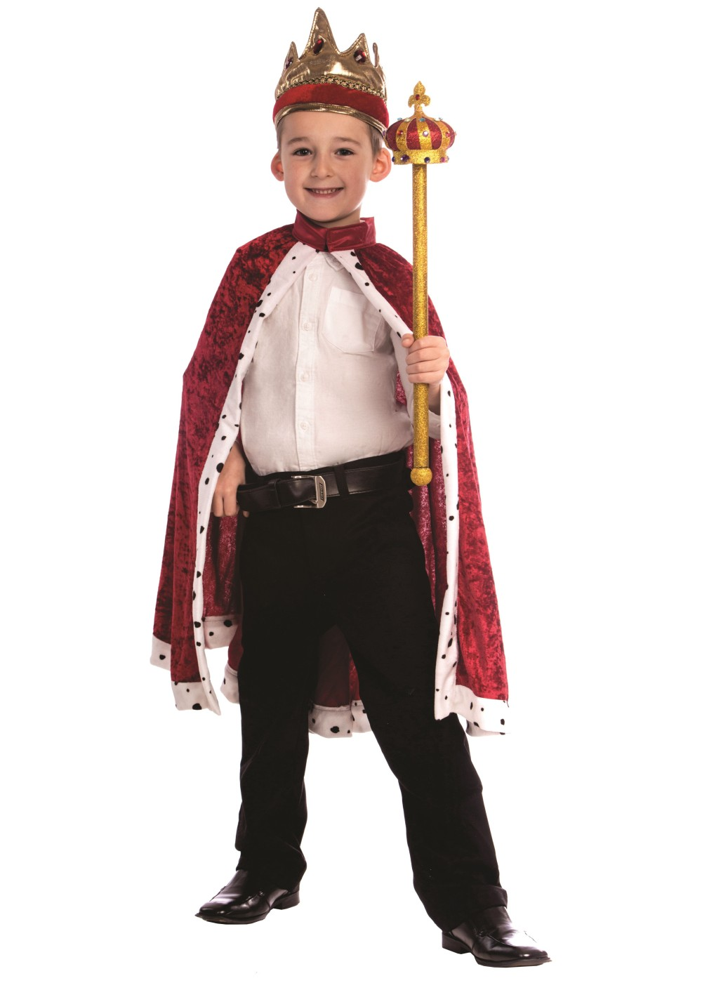 Infant Baby Halloween Costumes King Boys Robe And Crown Set Professional Costumes