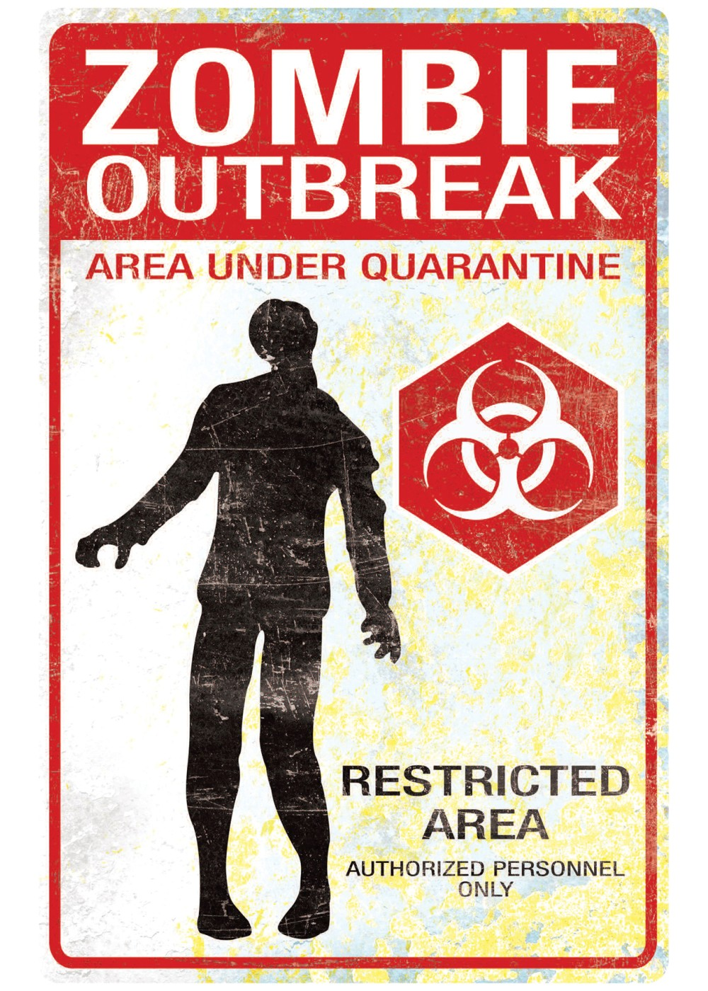 Girls Princess Wallpaper Zombie Outbreak Sign Decorations