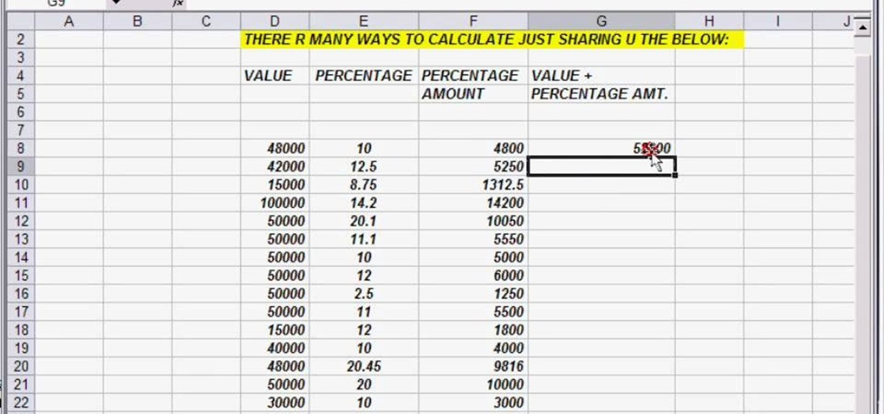 How to Calculate and add running percentages in Excel « Microsoft