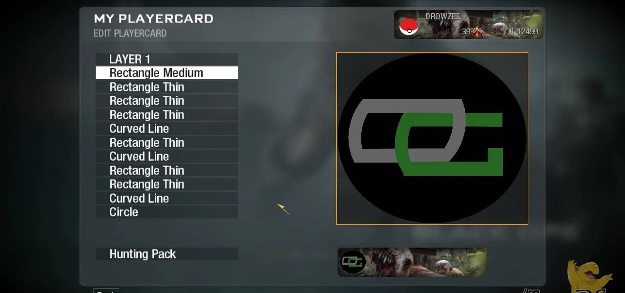 How to Create a custom OpTic Gaming logo playercard emblem in Call