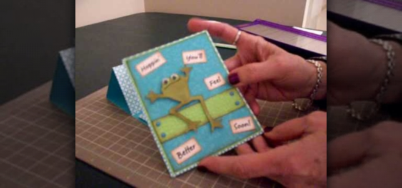 How to Make a get well pedestal card using Cricut Paper Doll