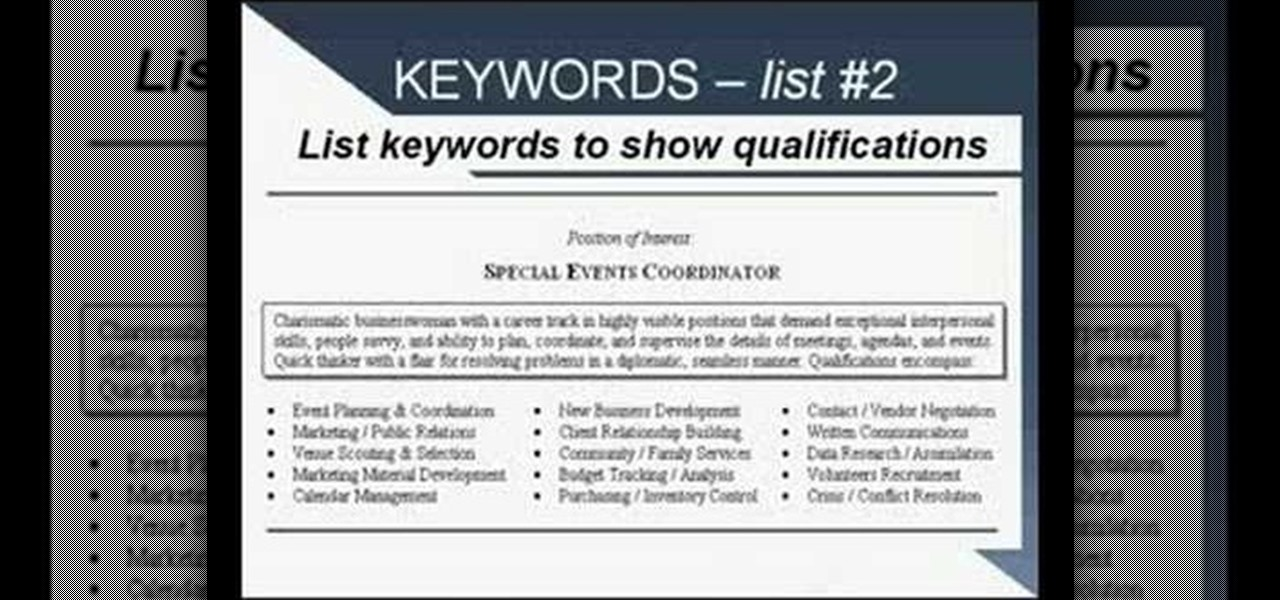 How to Write a resume using strong language and keywords « Jobs