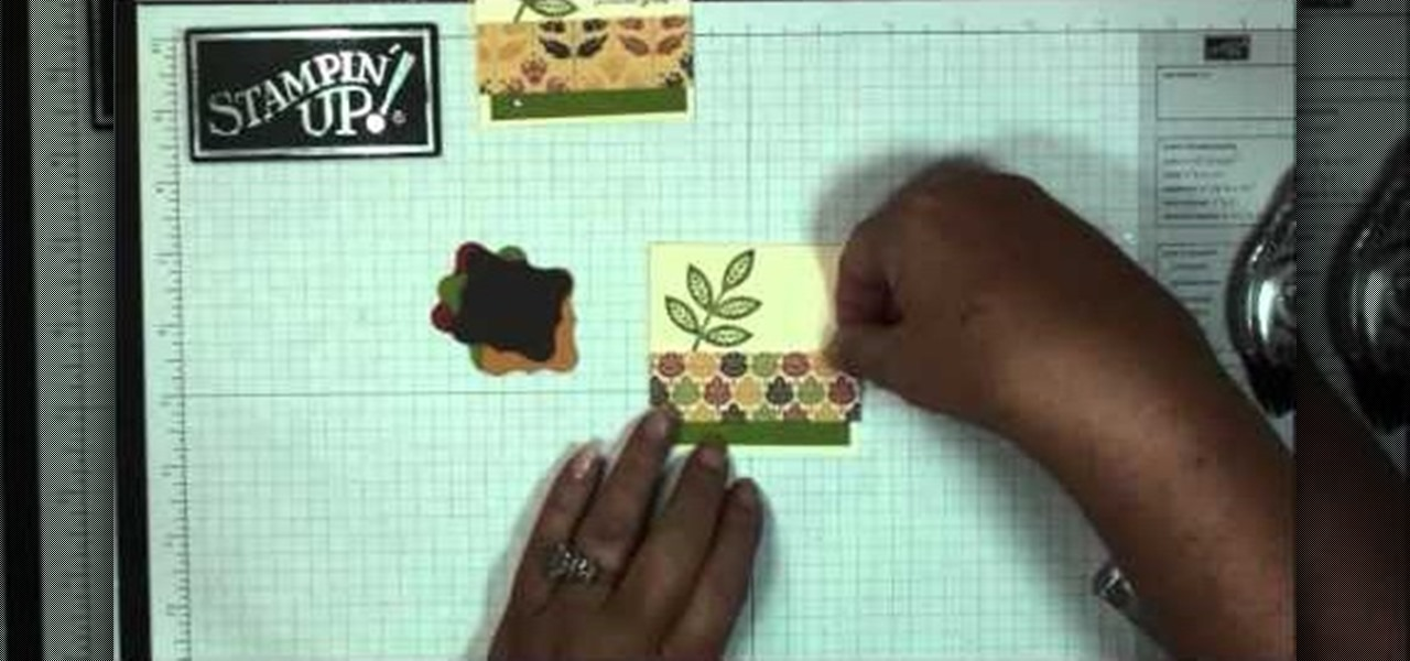 How to Make your own autumn-themed thank you note cards « Stencils - make your own thank you cards