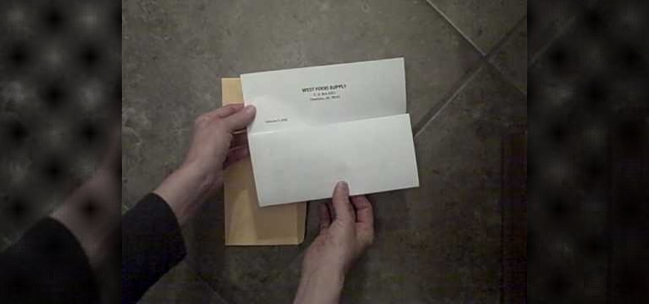 How to Properly fold a letter and place it into an envelope « Jobs