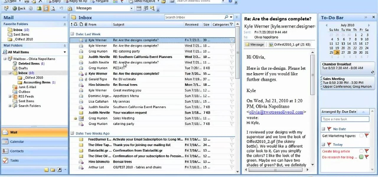 How to Add a folder to your Favorites list in Microsoft Outlook 2007