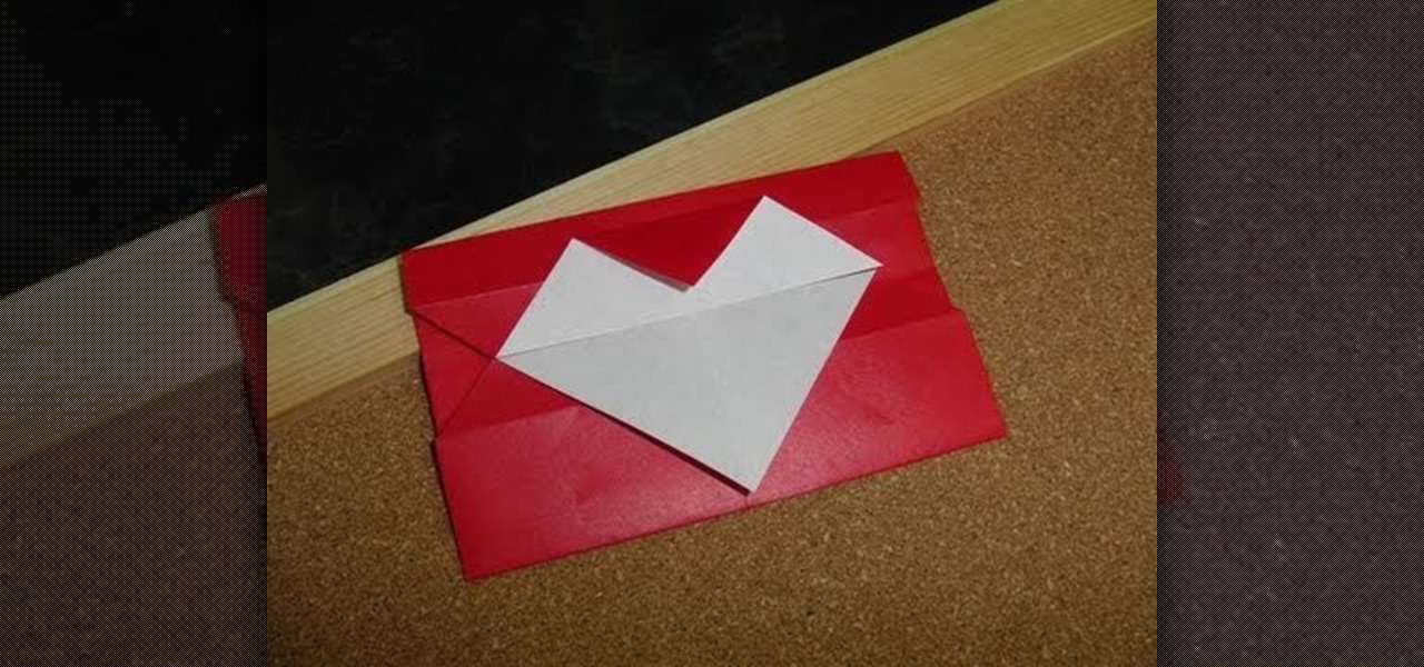 How to Fold a simple geometric Valentine\u0027s Day heart letter