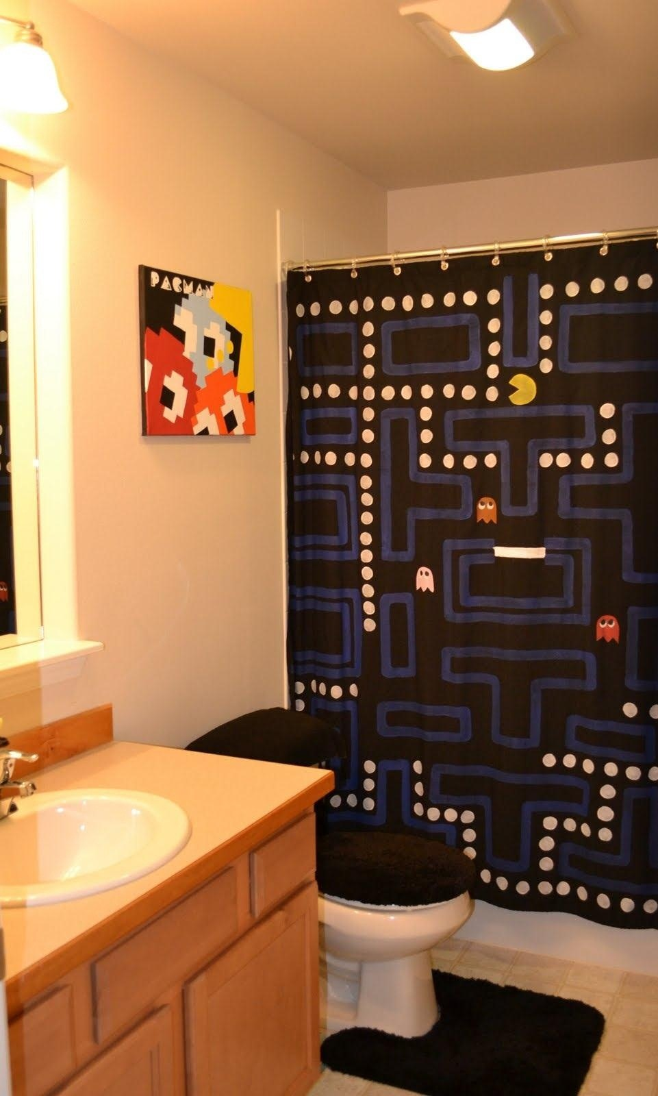 How To Make Shower Curtain How To Make An Amazing Pac Man Shower Curtain Macgyverisms