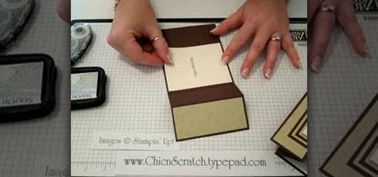 How to Make a tri-fold card out of paper « Papercraft  WonderHowTo - Tri Fold Card