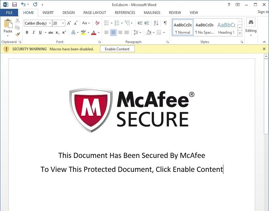 How to Create  Obfuscate a Virus Inside of a Microsoft Word - examples of word documents