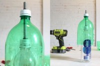 Old Plastic Soda Bottle + Concrete Mix = Sweet DIY Hanging ...