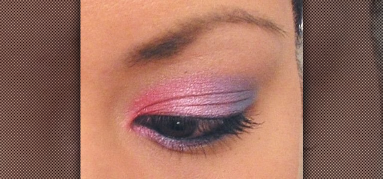 How To Create A Dramatic Pink And Blue Eyeshadow Look