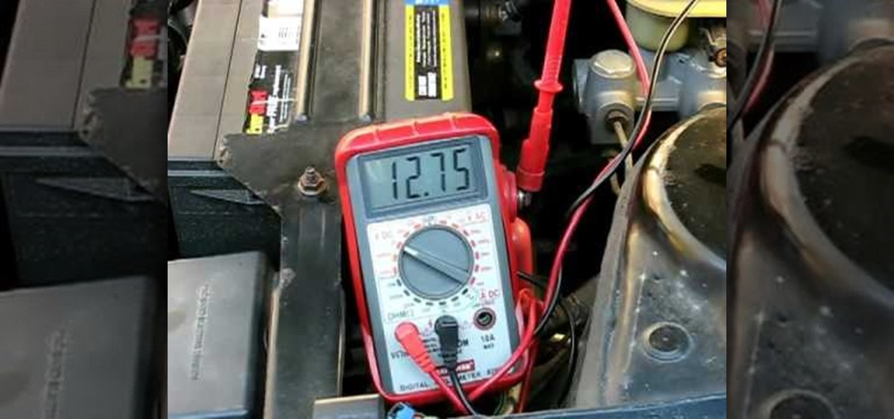 How to Test a vehicle alternator with a standard multimeter