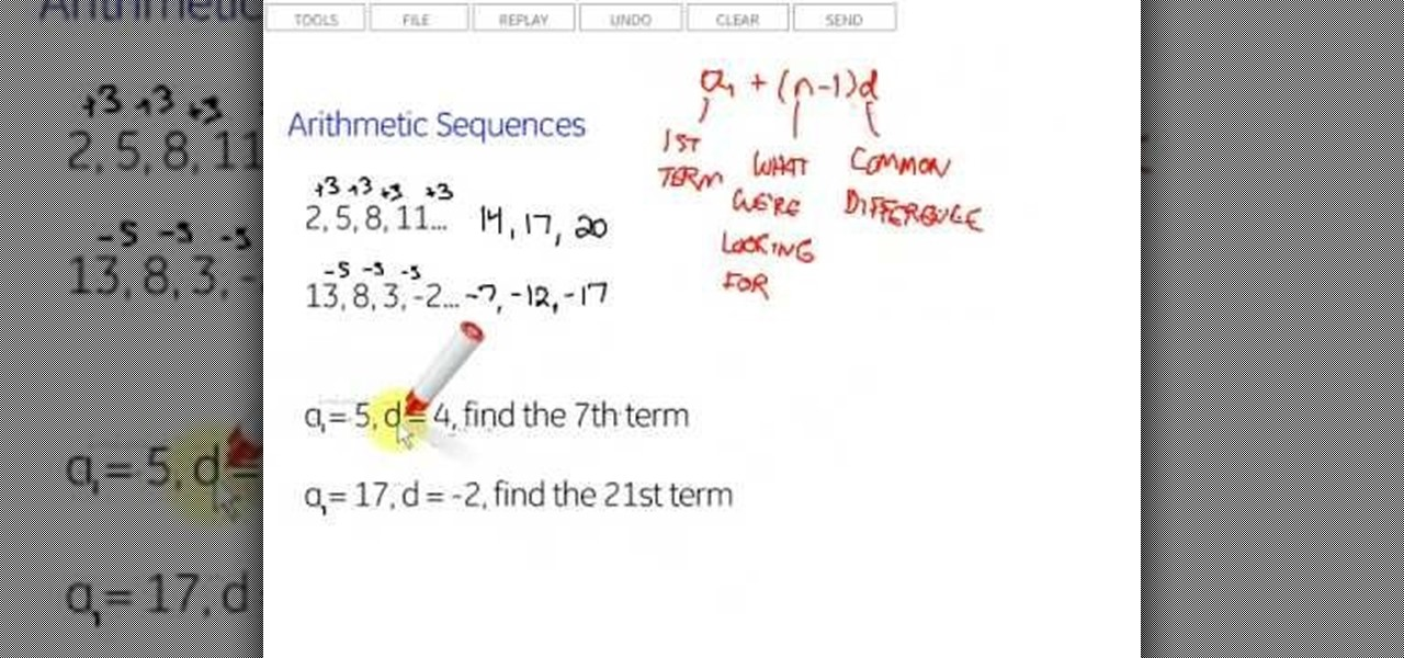 How to Identify arithmetic sequences and find the nth term « Math