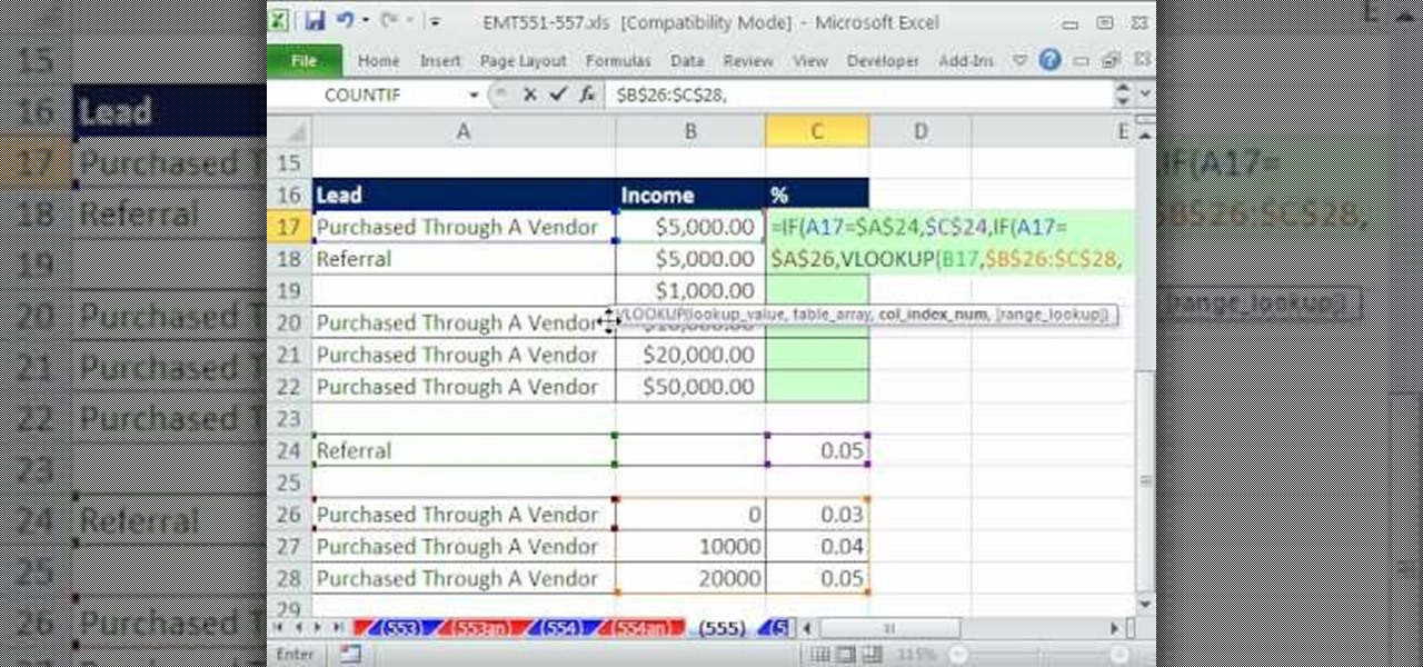 How to Calculate commissions with Excel\u0027s IF  VLOOKUP « Microsoft - realtor percentage calculator
