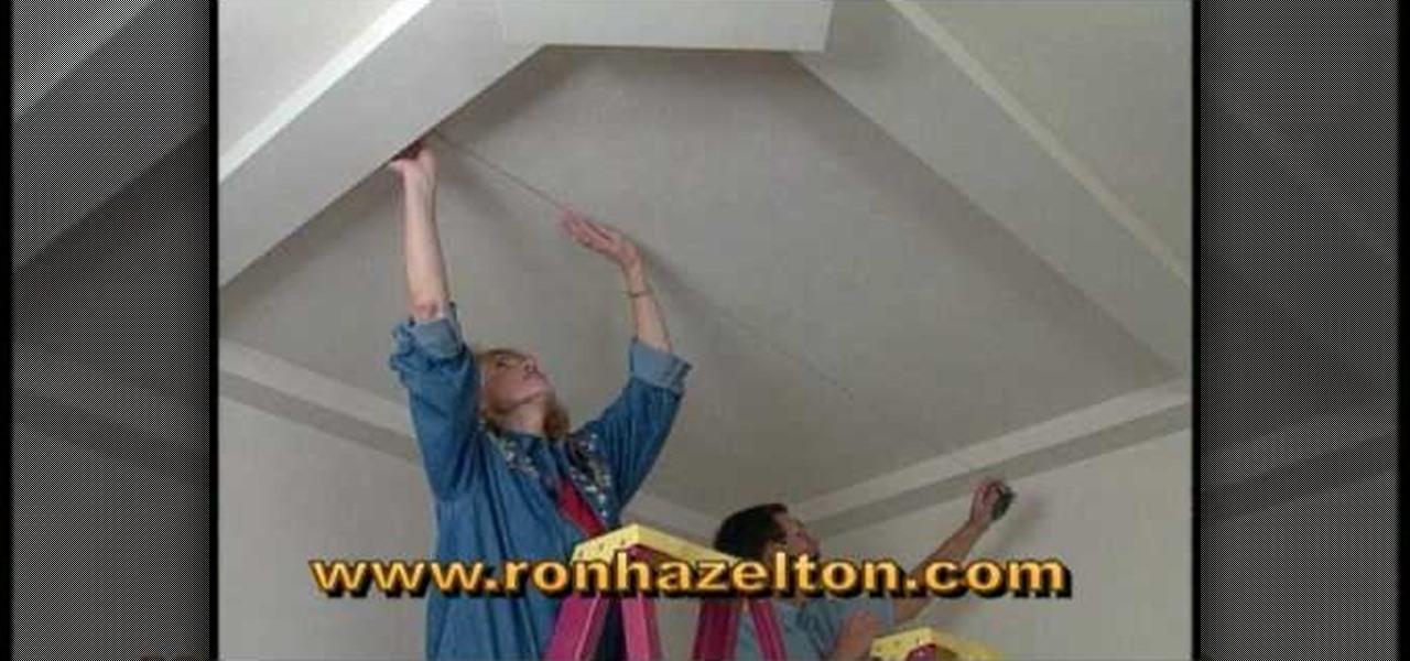 How To Create Sunken Or Recessed Ceiling Panels « Interior Design