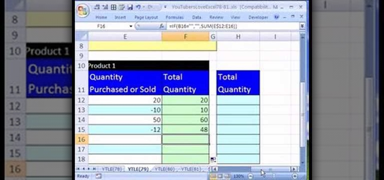 How to Create an Excel inventory template with running totals - free excel inventory templates