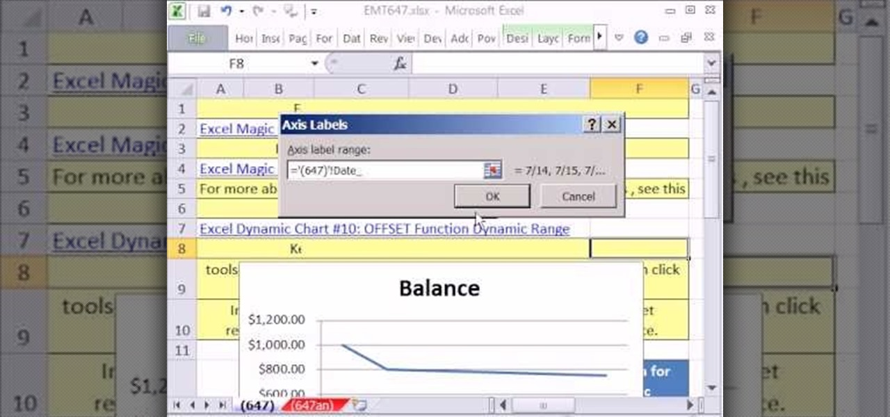 How to Create a dynamic line chart for accounting in MS Excel - ms excel for accounting