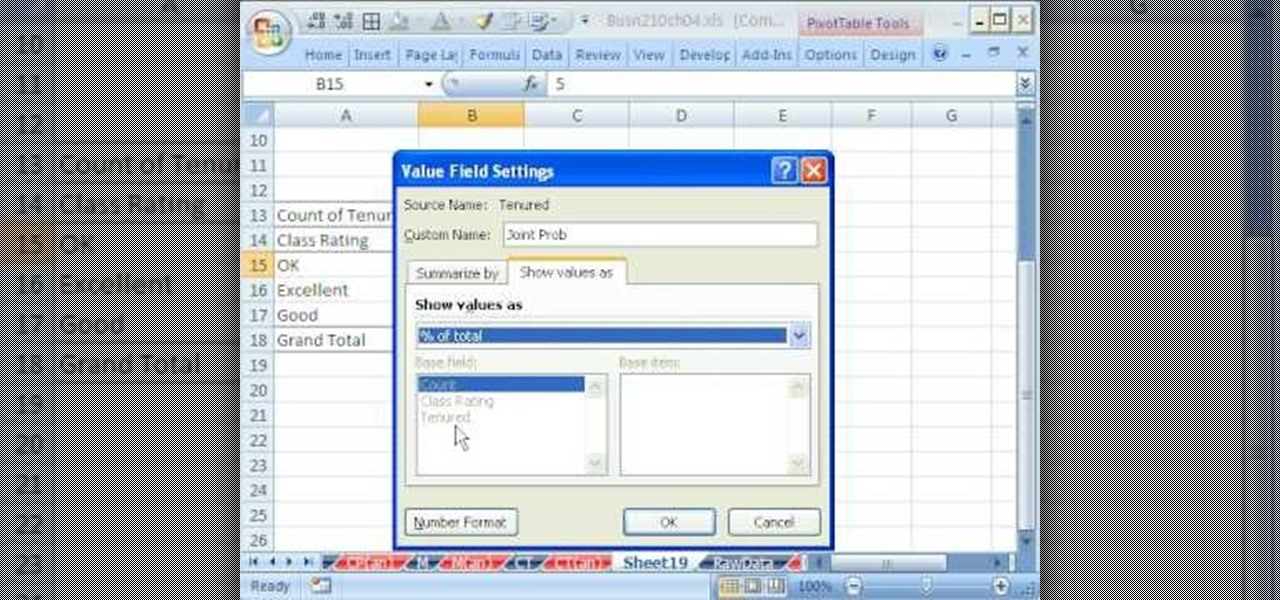 How to Calculate probability in an Excel pivot table « Microsoft - pivot table in excel