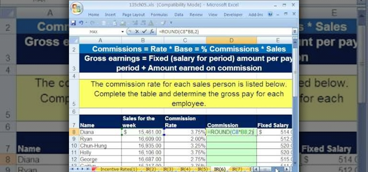 How to Calculate incentive rates by formula in MS Excel « Microsoft