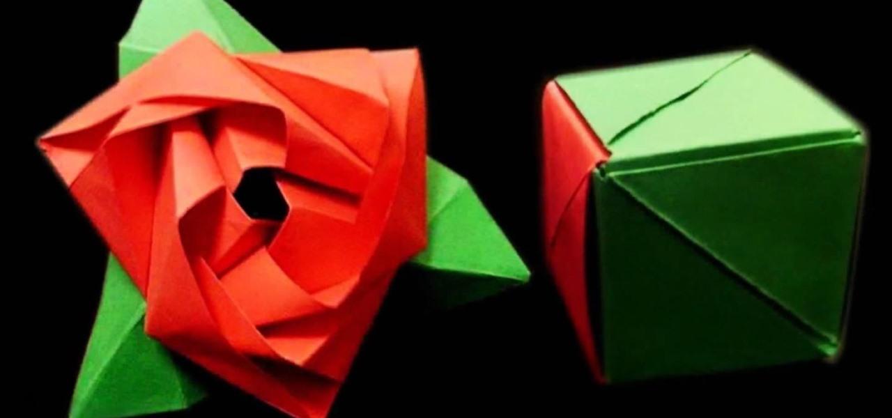 How to Fold a Magic Rose Cube\u2014A Flower in a Box Origami Puzzle
