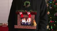 Christmas Sweater With Burning Fireplace - Full Zip Sweater