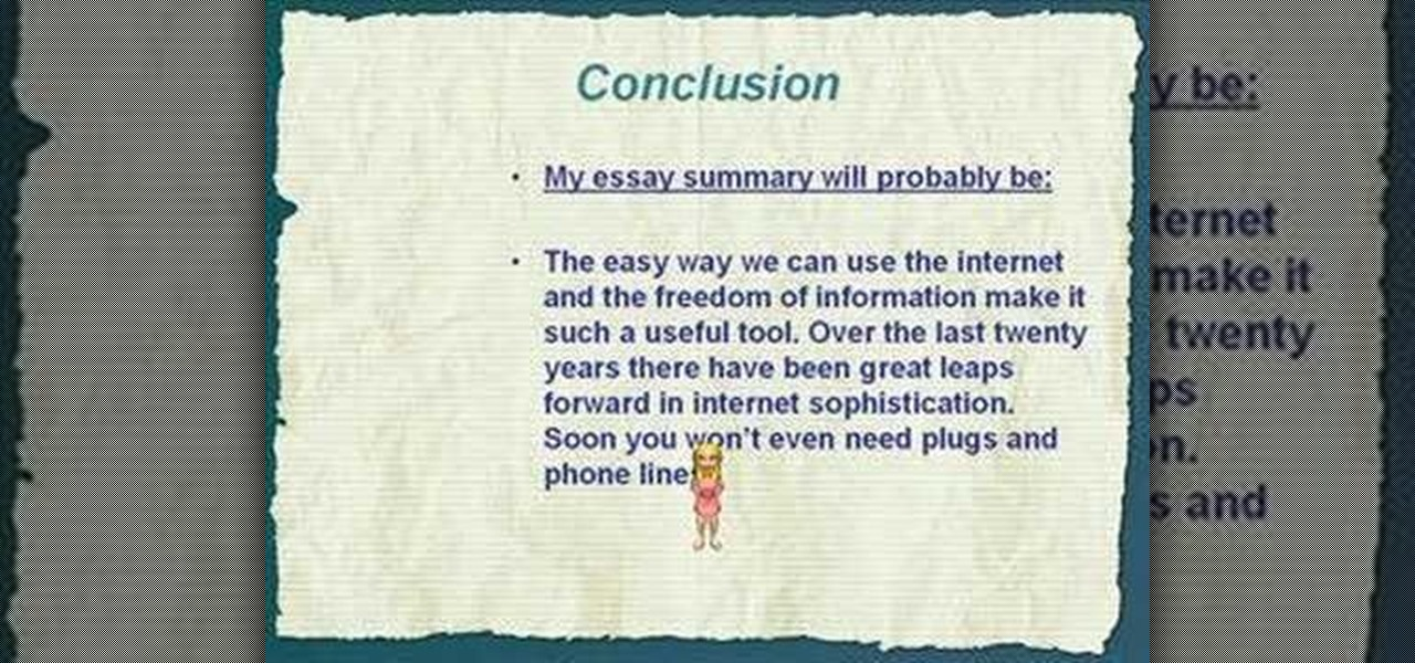 How to Write a great conclusion for an essay « Humanities  WonderHowTo