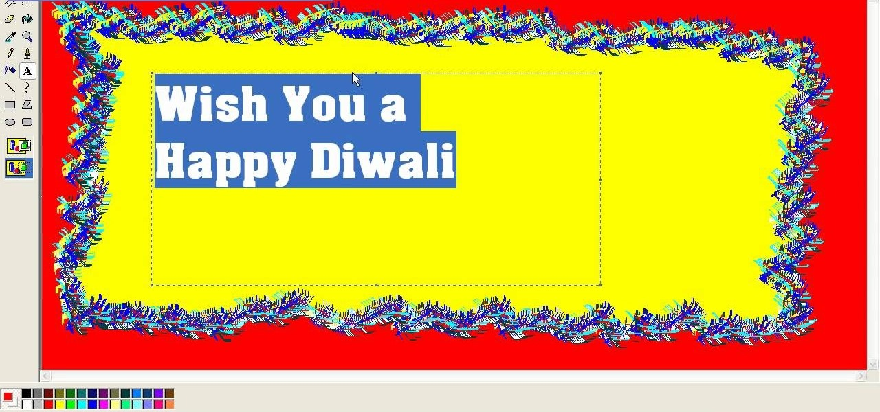 How to Create a Diwali (festival of lights) greeting card in