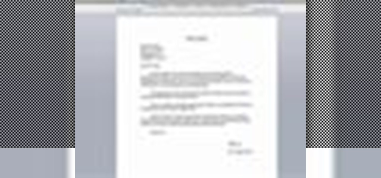 How to CC in a Physical Business Letter « Jobs  Resumes  WonderHowTo - Letter Of Intent Layout