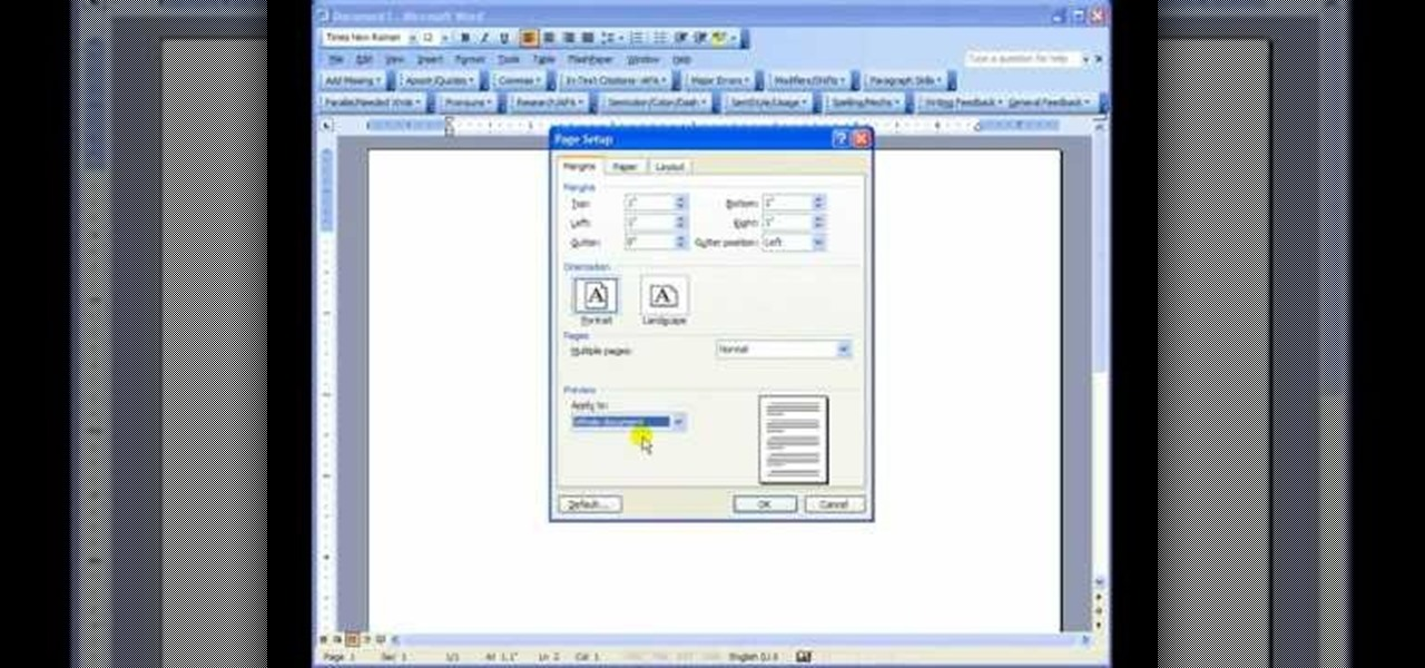 mla in microsoft word