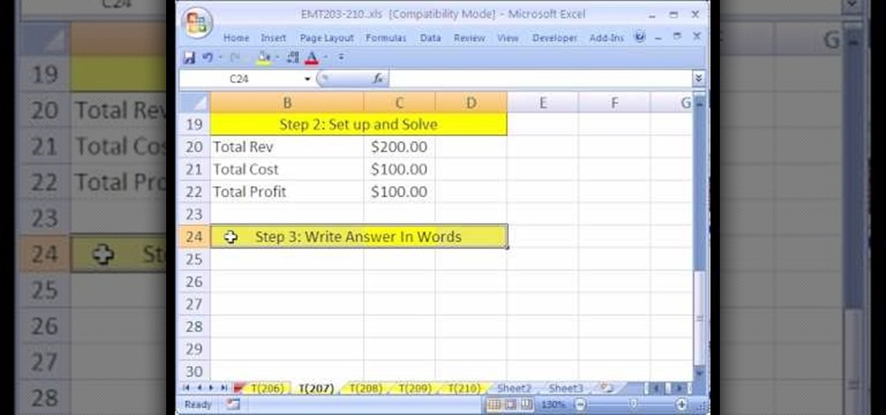 How to Create Excel formulas to solve business math problems - business math