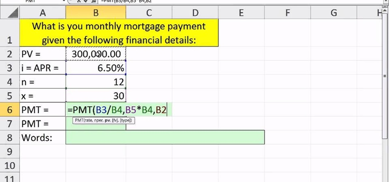 How to Calculate the present value of an annuity with Excel\u0027s PMT