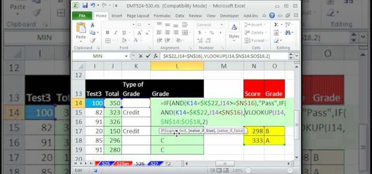 How to Create a pass-fail grade formula in Microsoft Excel - creating formulas in excel