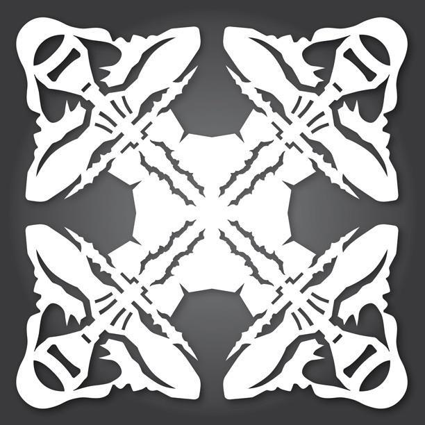 60+ Free Paper Snowflake Templates\u2014Star Wars Style! « Christmas - snowflake template