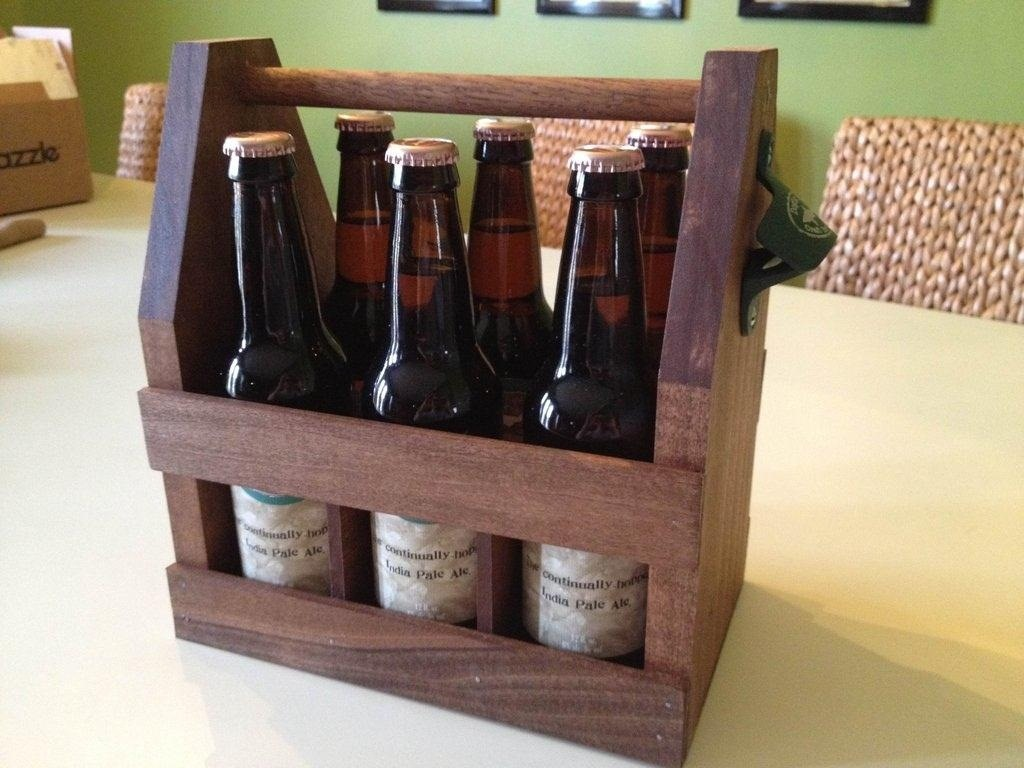 Bier Houder Carry Your Beer In Style With These Diy Wooden Six Pack