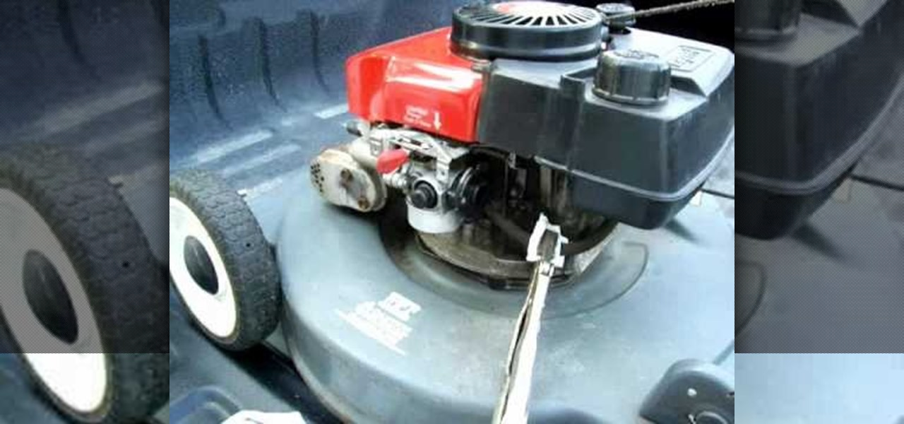 How to Clean out the carburetor on a push lawn mower « Maintenance