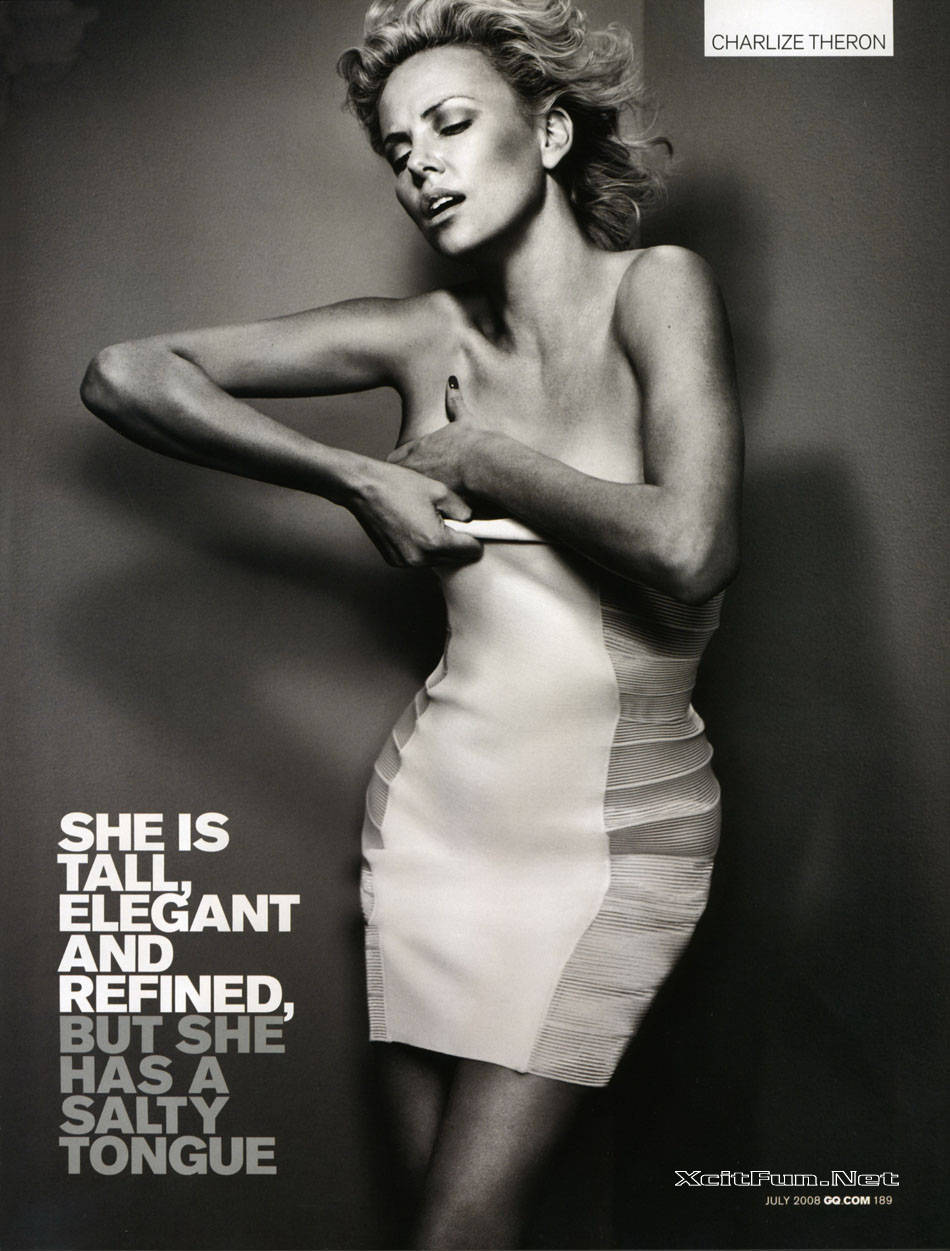 Apps For Quotes Wallpapers Charlize Theron Steal The Show Of Gq Magazine July 2008