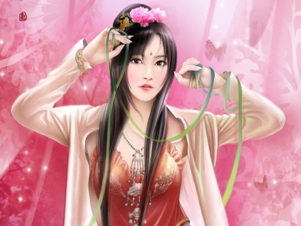 Chinese Girl Painting Wallpaper Wallpaper Collection Fantacy Galzzz Page 1
